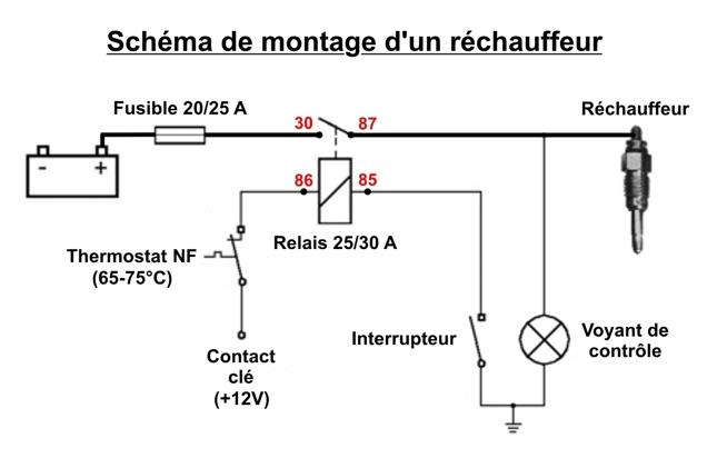 Schema electrique relais