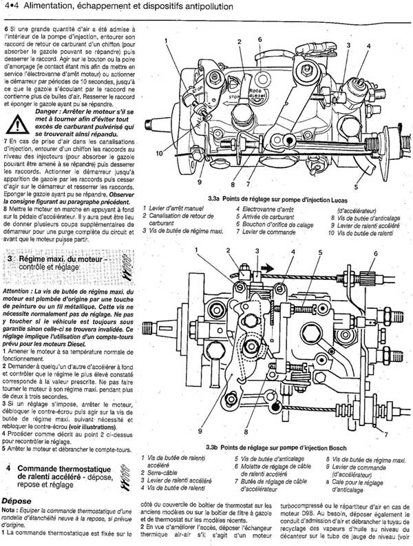 Calage pompe injection mercedes